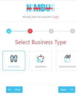 selecting-business-type-for-trial-account-in-Nimbus