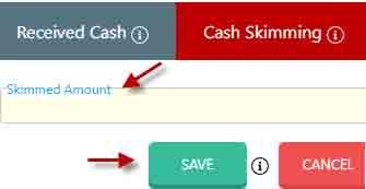 Cash skimming