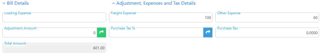 Expenses of GRN