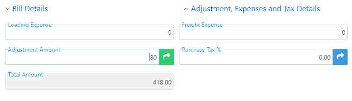 Total amount after positive adjustment