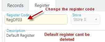 Editing register