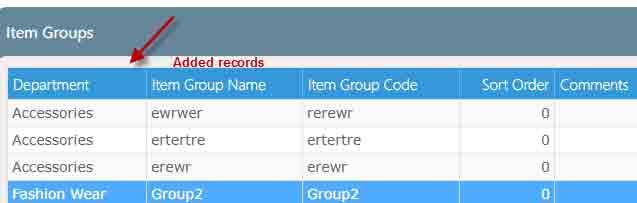 Records tab
