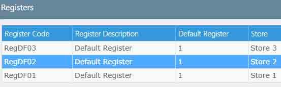Registers grid