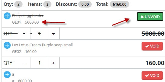 Removing item from sale in Nimbus RMS