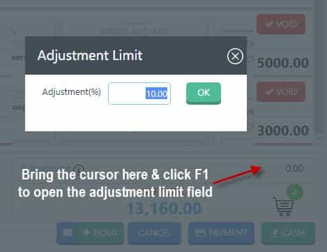 Applying adjustment in Nimbus